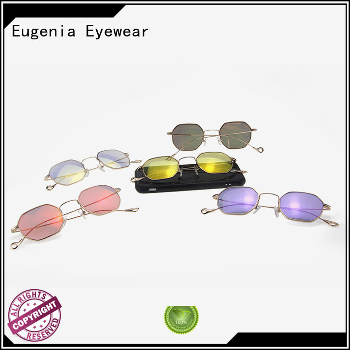 Eugenia colorful sunglasses in bulk clear lences fashion