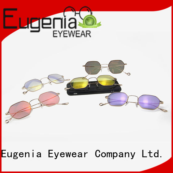 Eugenia custom wholesale sunglasses bulk clear lences fashion