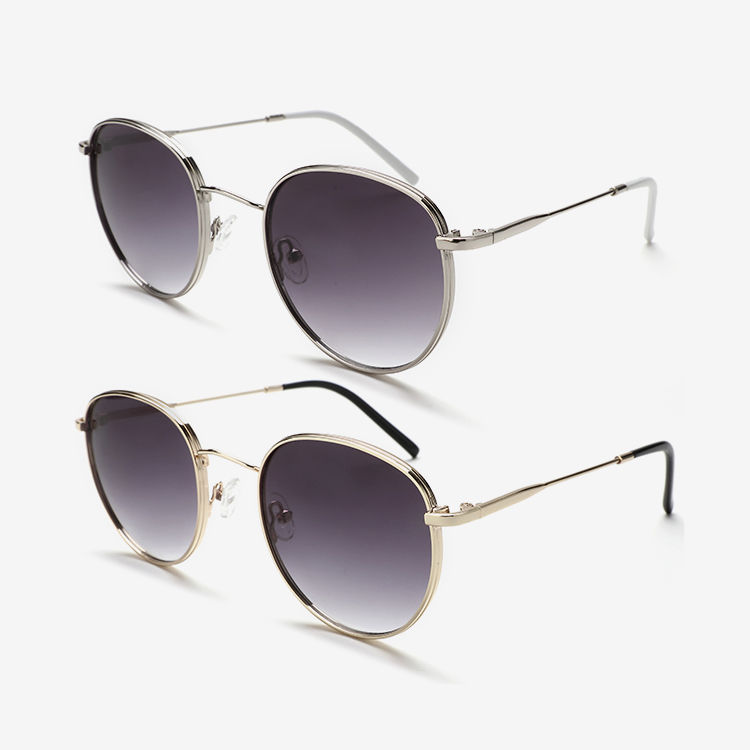 Thick Retro Round Sunglasses