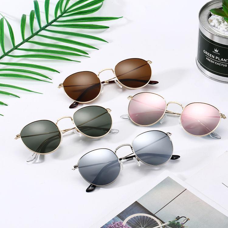 Eugenia sunglasses round metal free sample large capacity