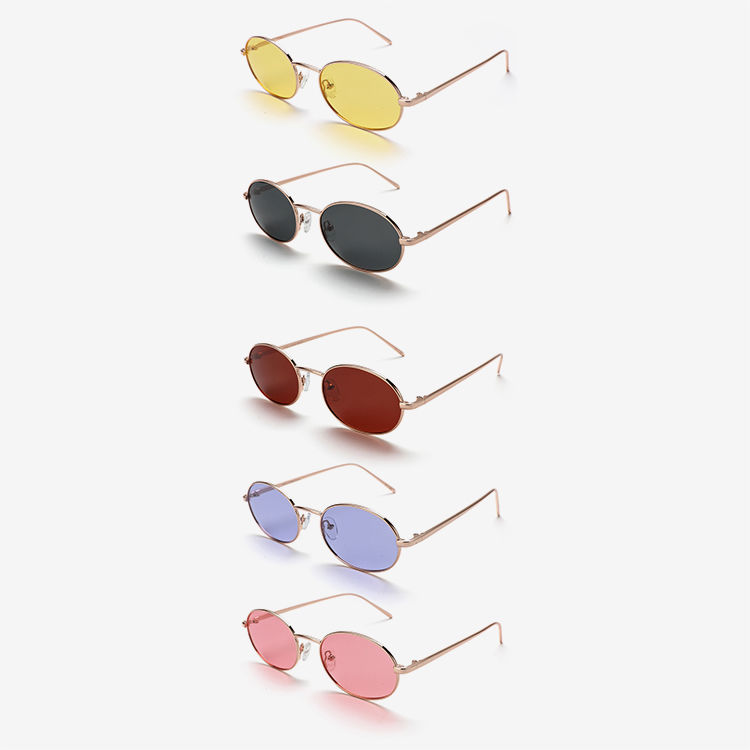 Fashion Elliptical Round Sunglasses