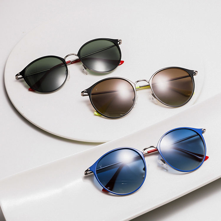 one-stop round mirrored sunglasses high quality