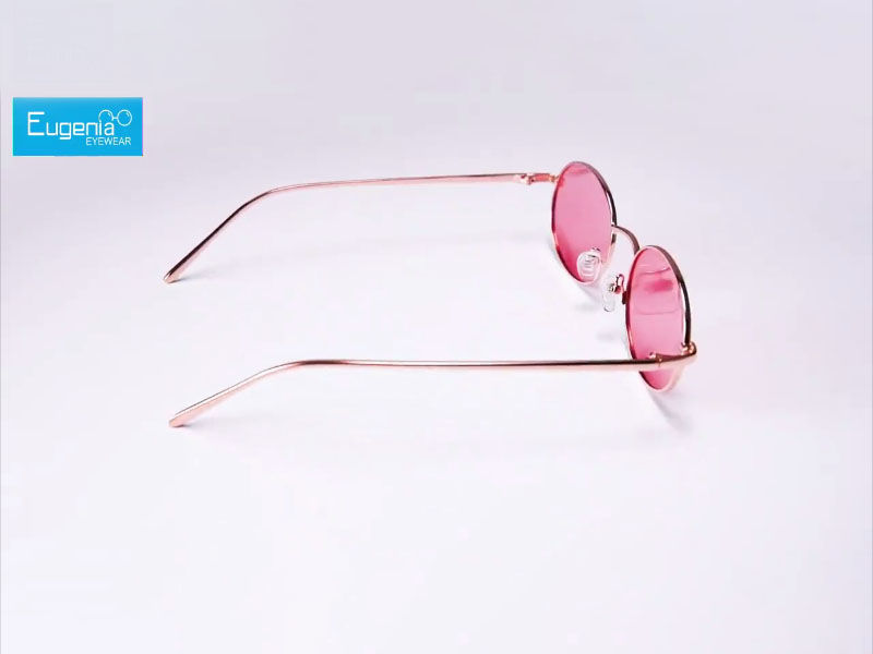 Fashion Elliptical Round Sunglasses YJ022