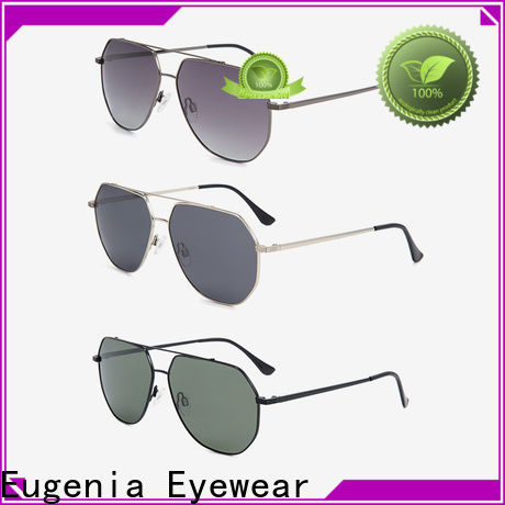 Eugenia fashion high end sunglasses wholesale double injection anti sunlight