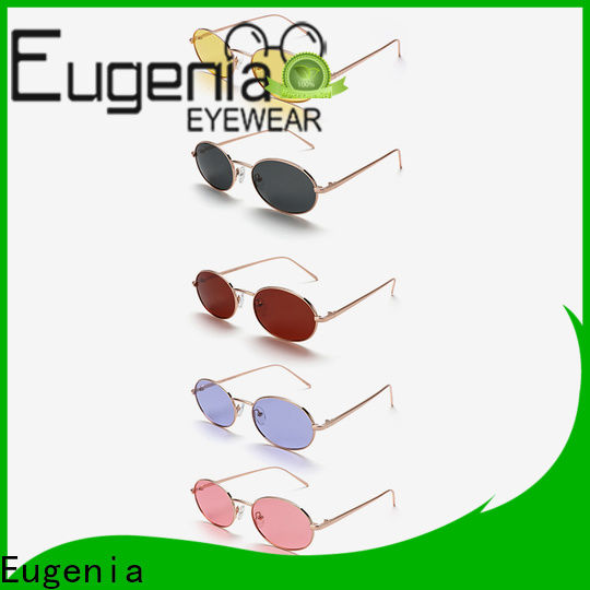stainless steel clear round sunglasses free sample