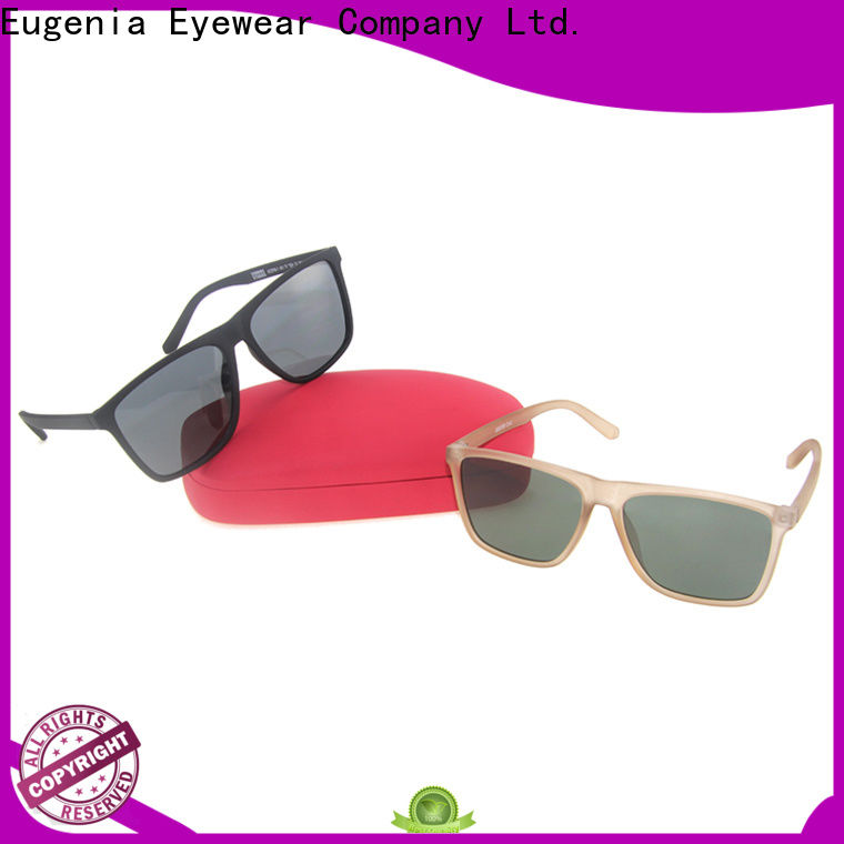Eugenia square type sunglasses custom fabrication