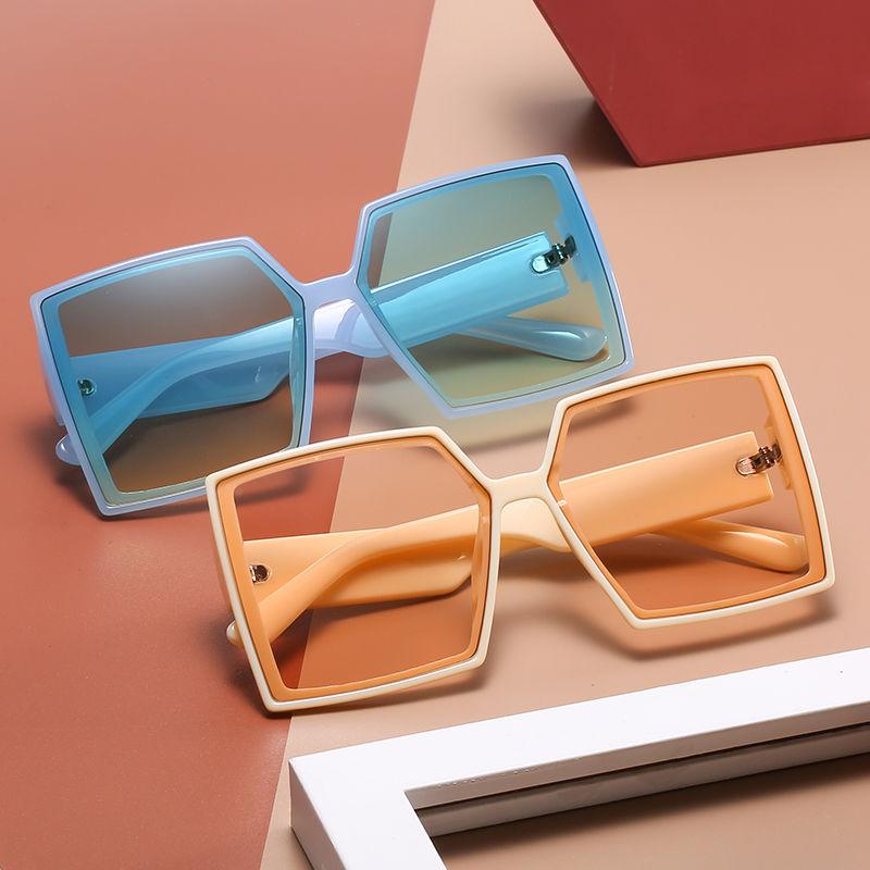 EUGENIA 2021 Fashion UV400 Custom Logo Square Big Frame Black Shades Luxury Brand Sun Glasses Oversized River Sunglasses