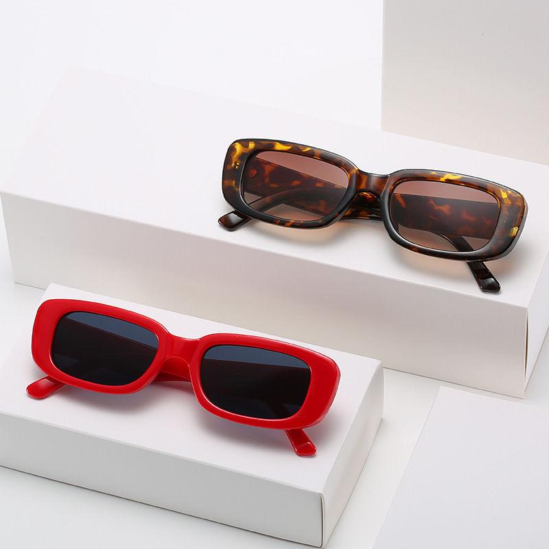 EUGENIA Vintage Lady Black Square Fashion Small Colorful Women Big Frame Sun Glasses Female Sunglasses gafas de sol hombre