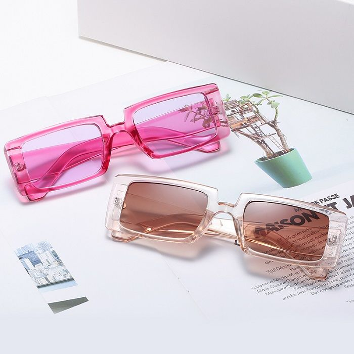EUGENIA Women Big Frame Sun Glasses Female Vintage Lady Black Square Fashion Small Colorful Sunglasses gafas de sol hombre