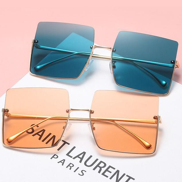 EUGENIA 2021 Sun Glasses UV400 Low Moq Fashion Trendy Ladies Square Half Rim Frameless Men Women Sun glasses river Sunglasses