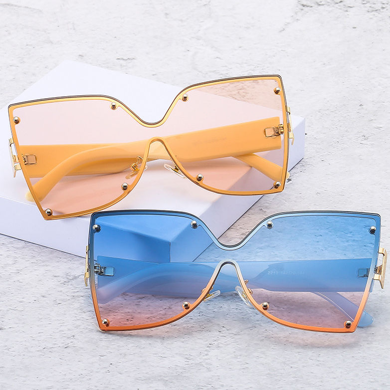 EUGENIA 2021 Hot Sunglasses Lady Luxury Shades Women Butterfly Sun glasses Oversized Sunglasses Metal Sunglasses