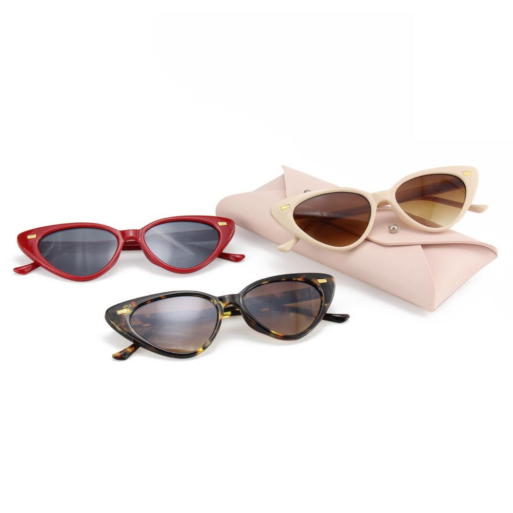 Cheap Promotional Black Cat Eye Frame Men Sunglasses with Printed Logo