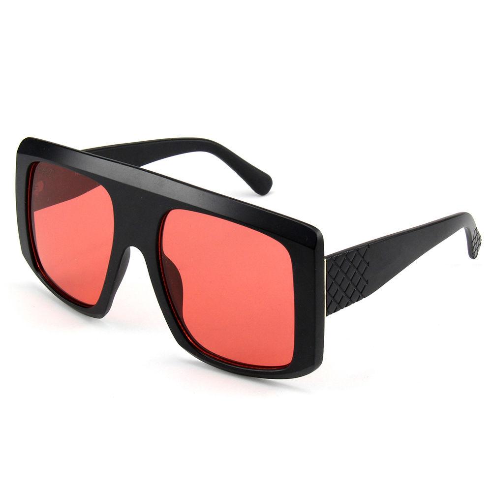 PC Frame Custom Fashion Eyewear Sun Glasses River Big Frame Women Sunglasses Oversized Sunglasses 2021