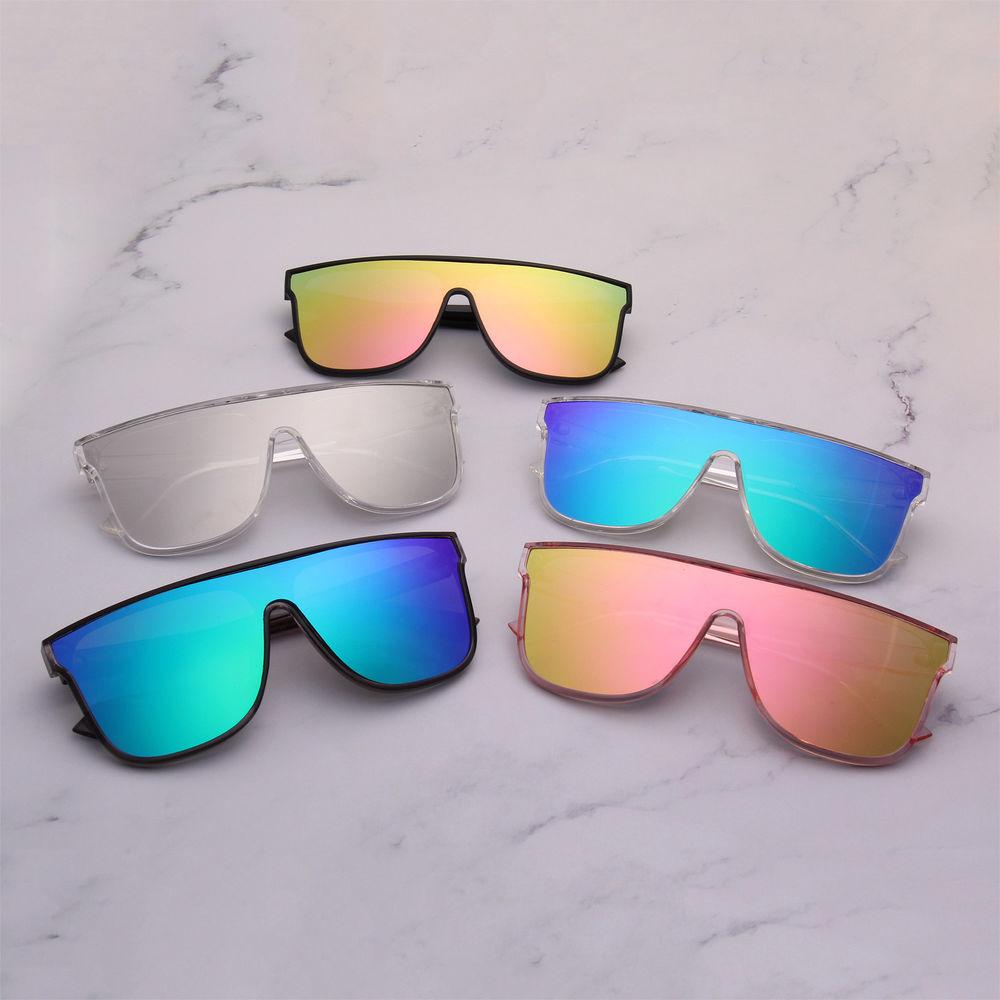 Custom 2021 Promotion Latest Hot Sale Cheap High Quality Classical Fashion Black One Piece Lens Sun Glasses Unisex Sunglasses