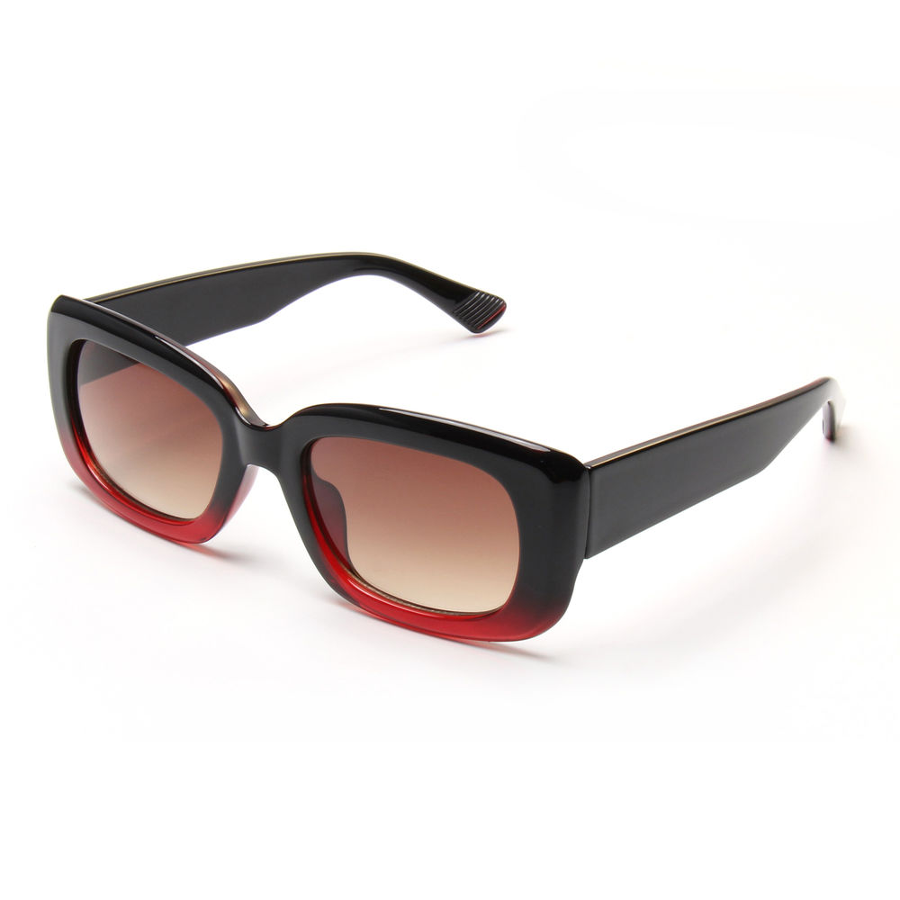 Print Your Logo Cheap Rectangle Square Plastic Womans Big Frame Sunglasses 2021