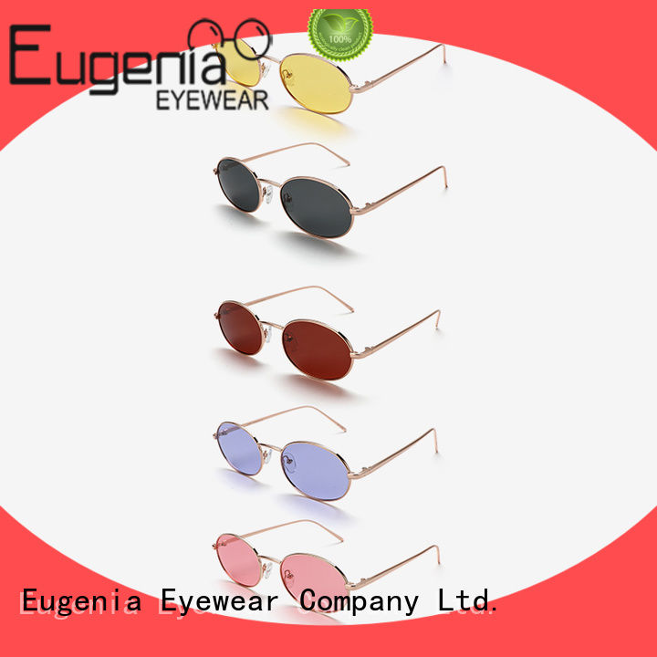 Eugenia one-stop clear round sunglasses high quality bulk suuply