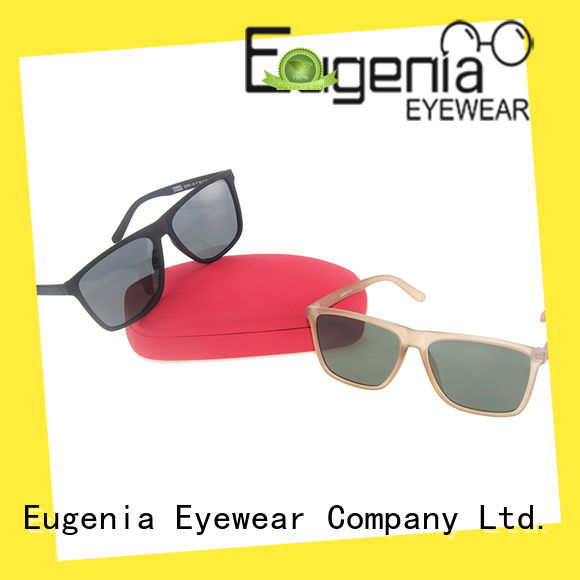Eugenia square type sunglasses custom factory direct