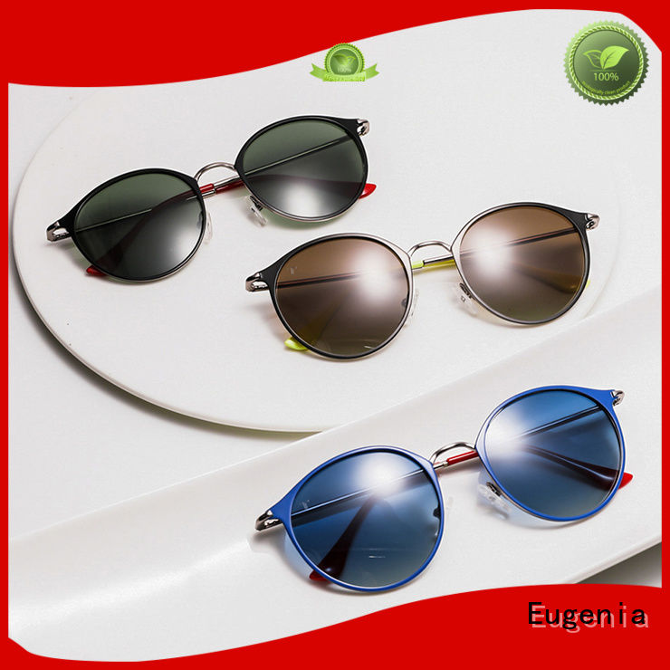 Eugenia stainless steel cool retro sunglasses high quality