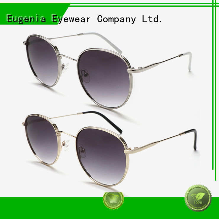 Eugenia oem & odm clear round sunglasses high quality best factory price