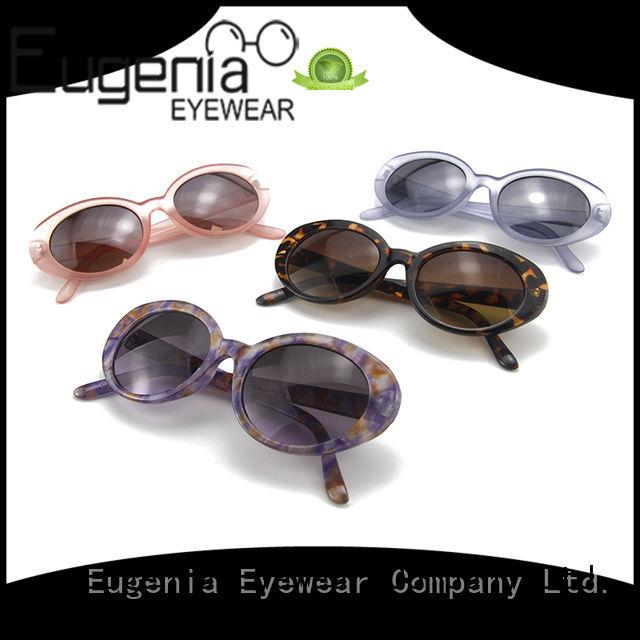 Eugenia one-stop retro round frame sunglasses free sample large capacity