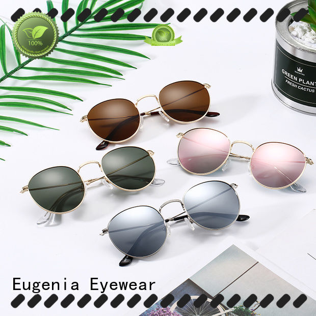 Eugenia stainless steel retro round glasses high quality best factory price