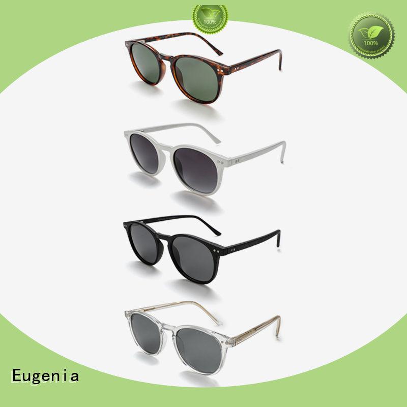 Eugenia stainless steel round shape sunglasses customized